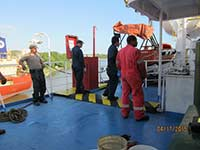 Rescue Davit Hydraulic service performed in Puerto Rico