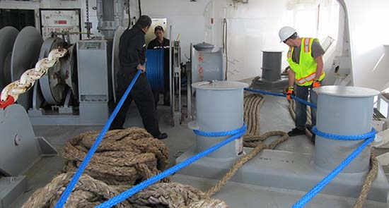 New Mooring Lines Installation