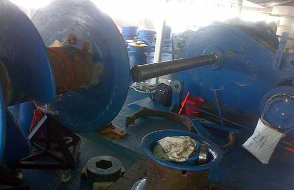 Mooring Winch Repair While At Sea