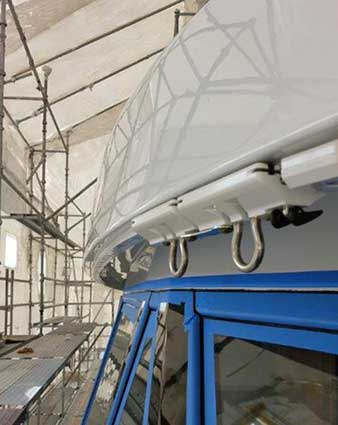 Nance Underwood Rigging Install Safety Rail System