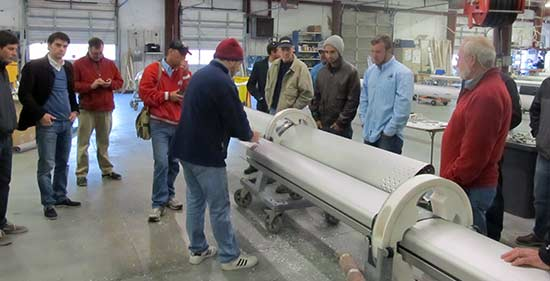 Rigging Technicians Attend Selden Mast and Rigging Technical Service School